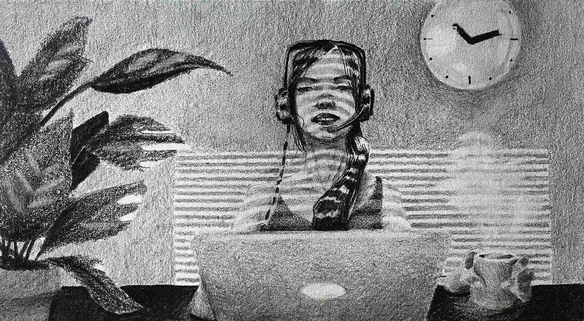 Illustration: Virtual Customer Service Agent