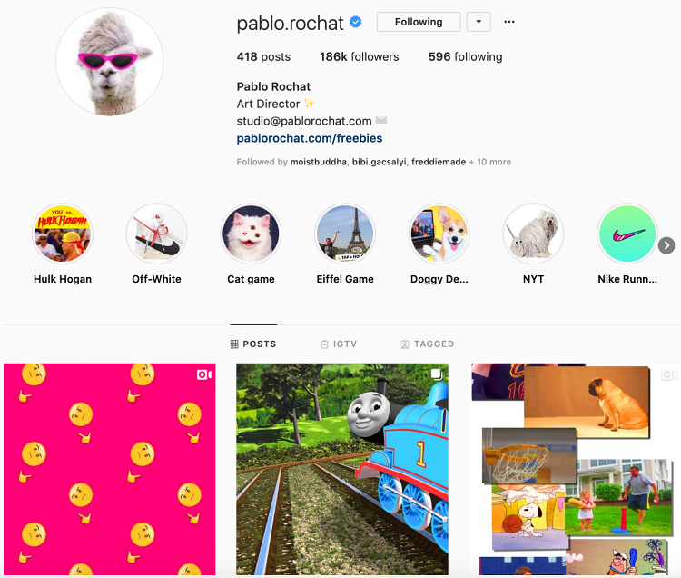 Instagram business  pablo rochat