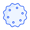 Star-shaped blue icon stands for the cookie