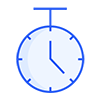 Stopwatch blue icon