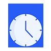Stopwatch blue icon