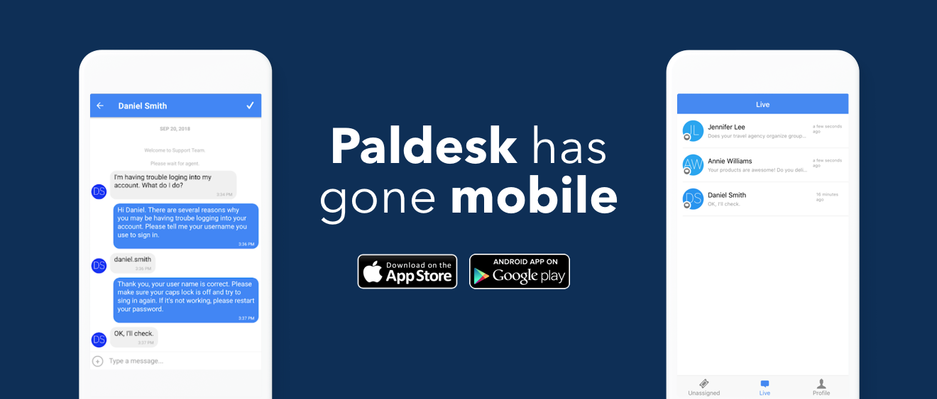 Paldesk iOS and Android App Released