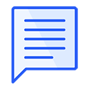 Predefined answers blue icon