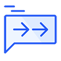 Route relevant chats blue icon