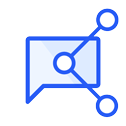 Transcript chat sharing icon