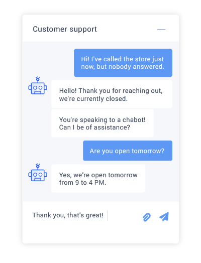 Boost chat response times with a proactive chatbot.