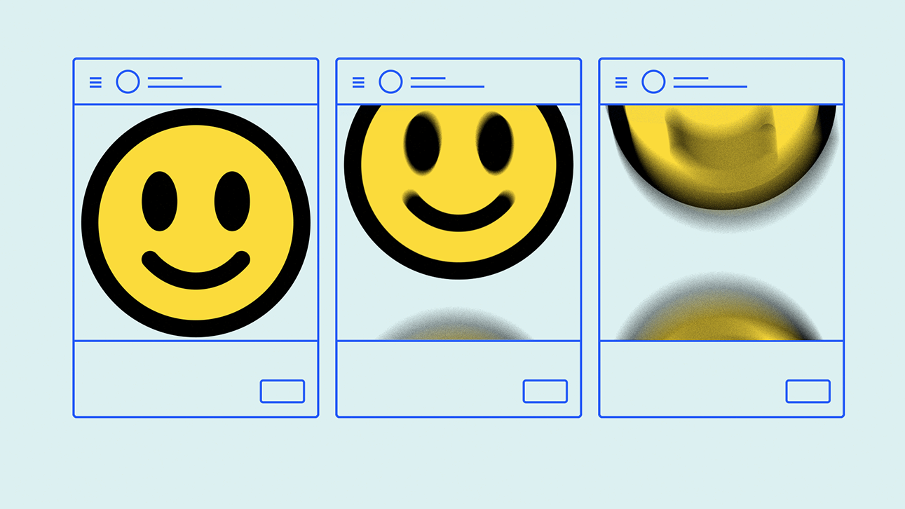 screens with emojis