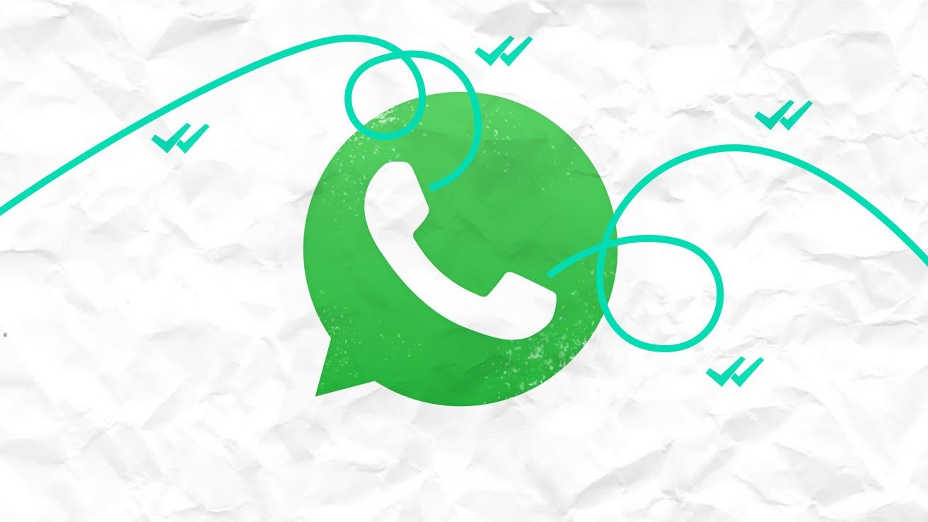 Whatsapp logo on a white paper-like background