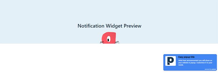 Easy Popup Widget Preview