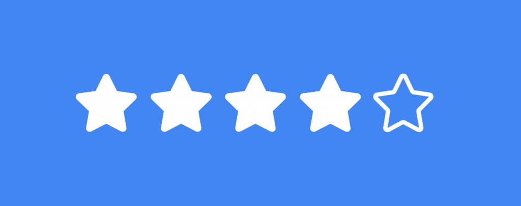 Four of total five stars