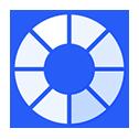 Blue customisation wheel