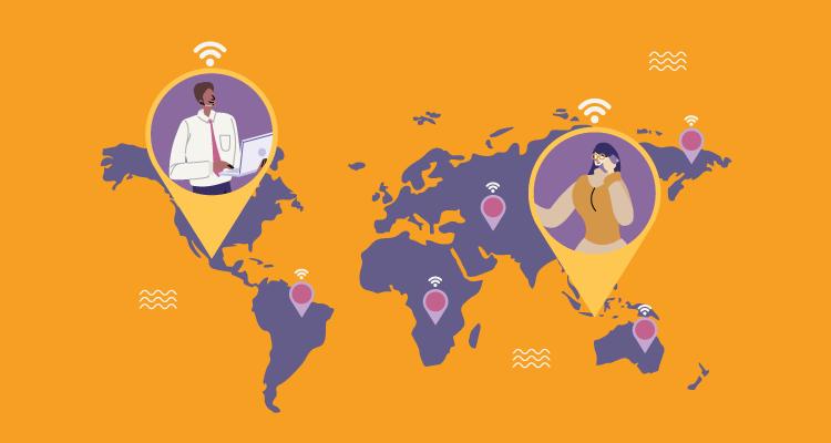 Building an international online community