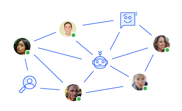 Connect with students thanks to live chat