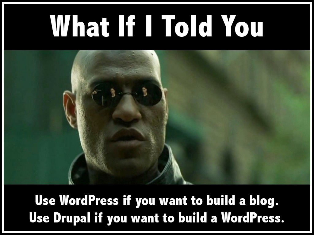 Building a Drupal website requires a lot of effort