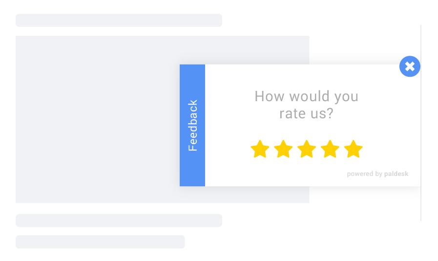 Feedback form example on website