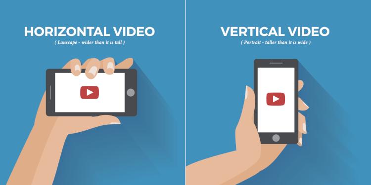 Horizontal versus vertical video format
