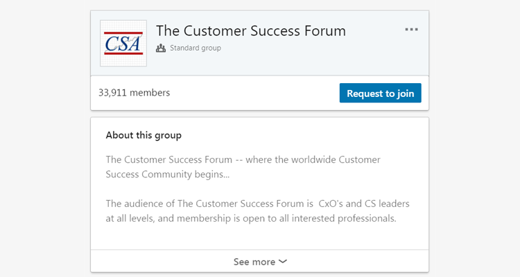 The Customer Success Forum on LinkedIn