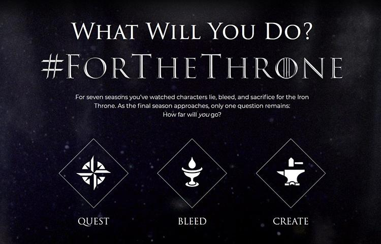 #forthethrone campaign is a great GOT marketing example