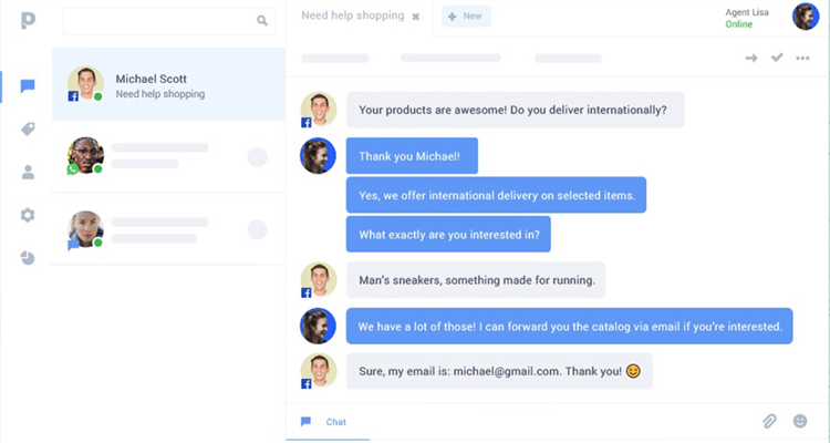 Paldesk real time chat