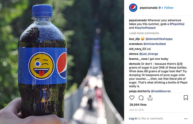 The Pepsi emoji