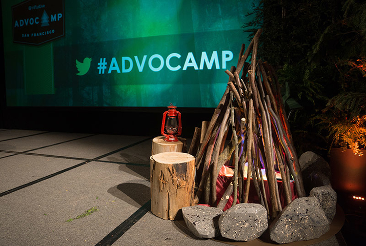 Customer Support Event - Advocamp Stage decoration
