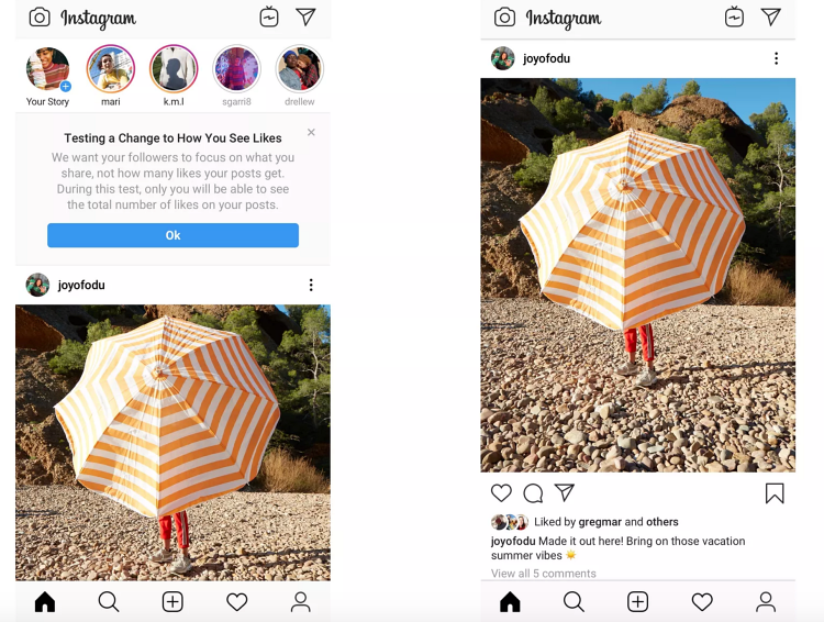 Instagram testing new feature that removes likes
