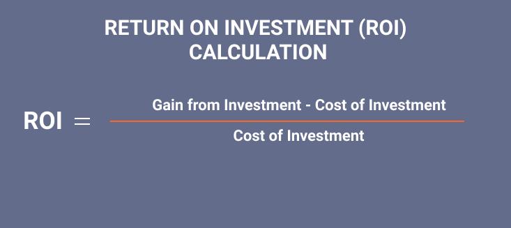 ROI calculation formula
