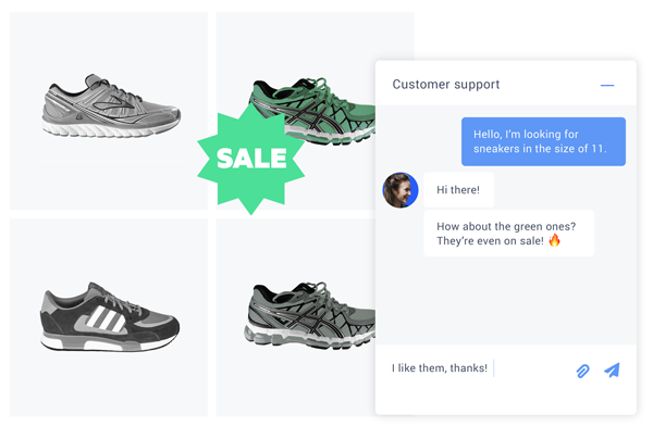 Live chat for ecommerce website