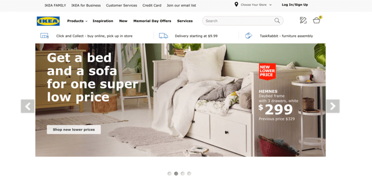 The official Ikea website is powered by Joomla