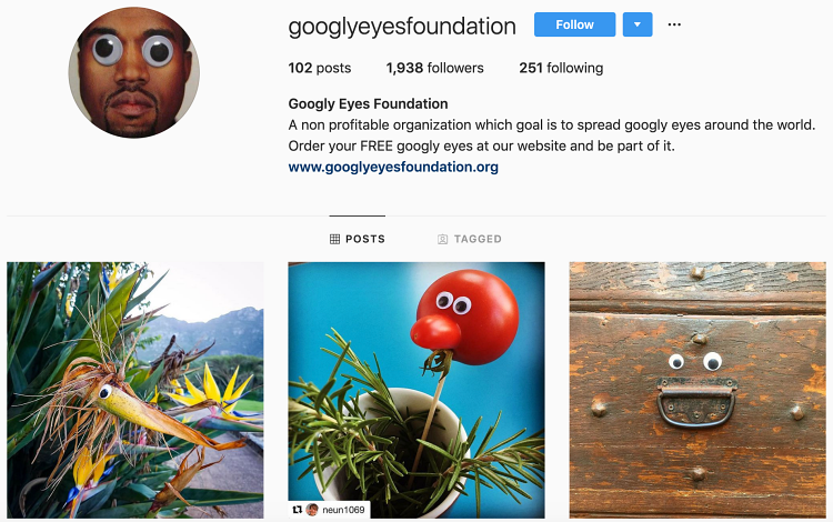 Instagram buisness googly eyes