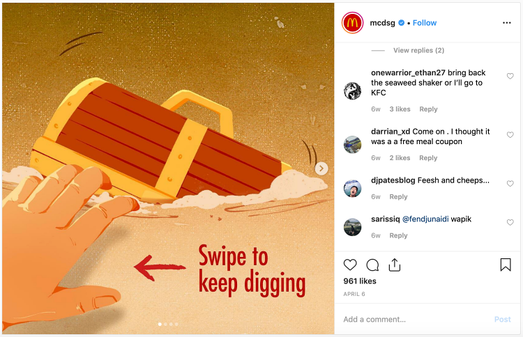 Instagram business mcdonalds nuggets