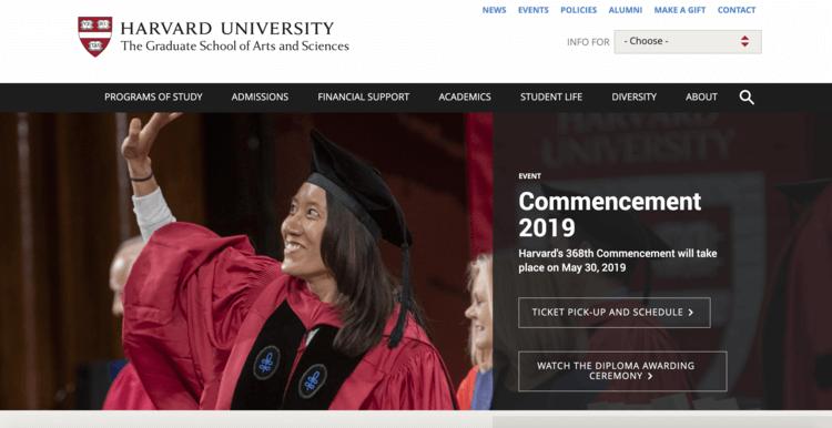 Gsas.hardvard.edu, the Harvard Graduate School Website