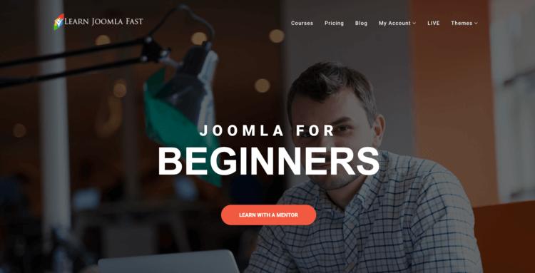 Learn Joomla Fast, a website teaching people how to use Joomla