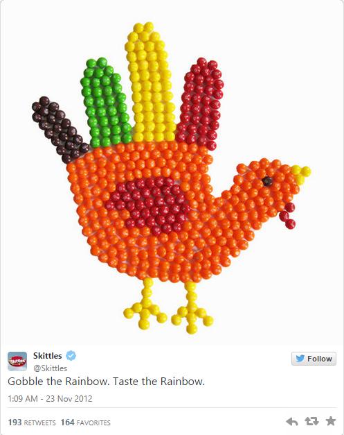 Example of Skittles brand voice