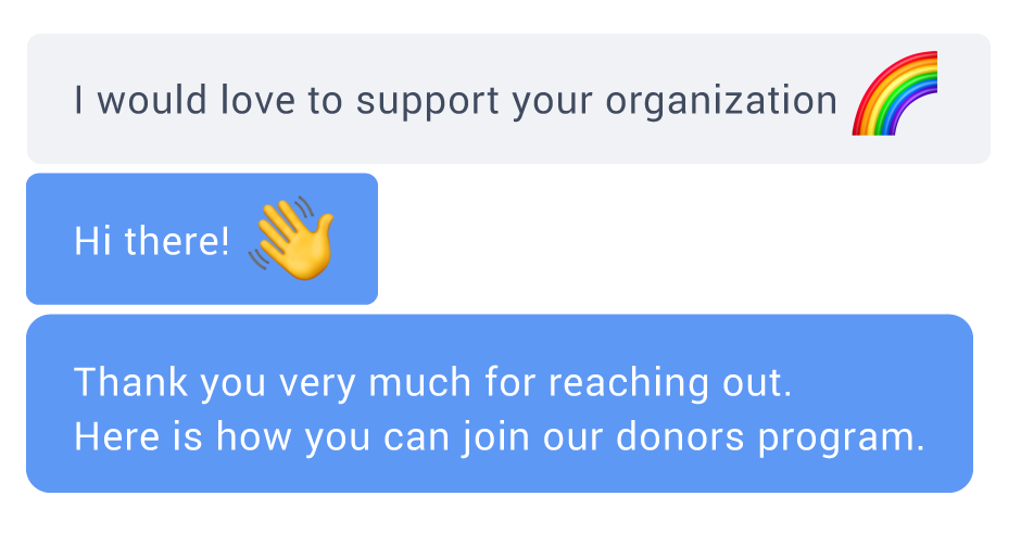 Support over live chat for nonprofit organizations