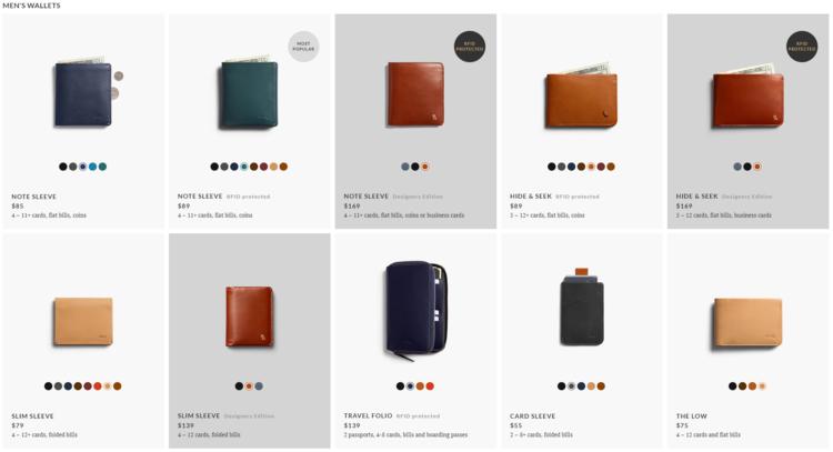 Product landing belloroy wallet
