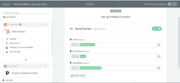 paldesk integration with Hubspot