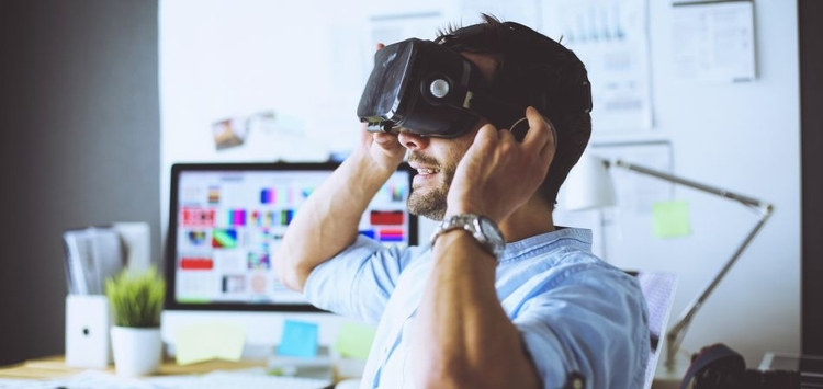 Virtual reality jobs  meeting in VR