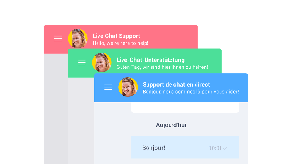 Multilanguage live chat widget
