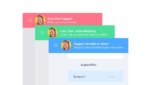 Multilanguage live chat widget