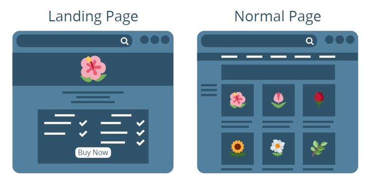 Difference between homepage and landing page