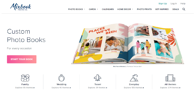 High Converting Landing Page by Mixbook