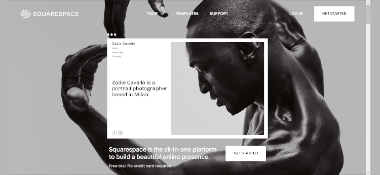 Squarespace Homepage Example