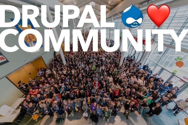 Drupal is an open source community