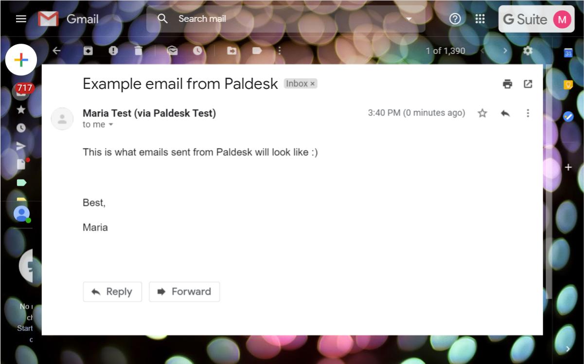 Emails from Paldesk