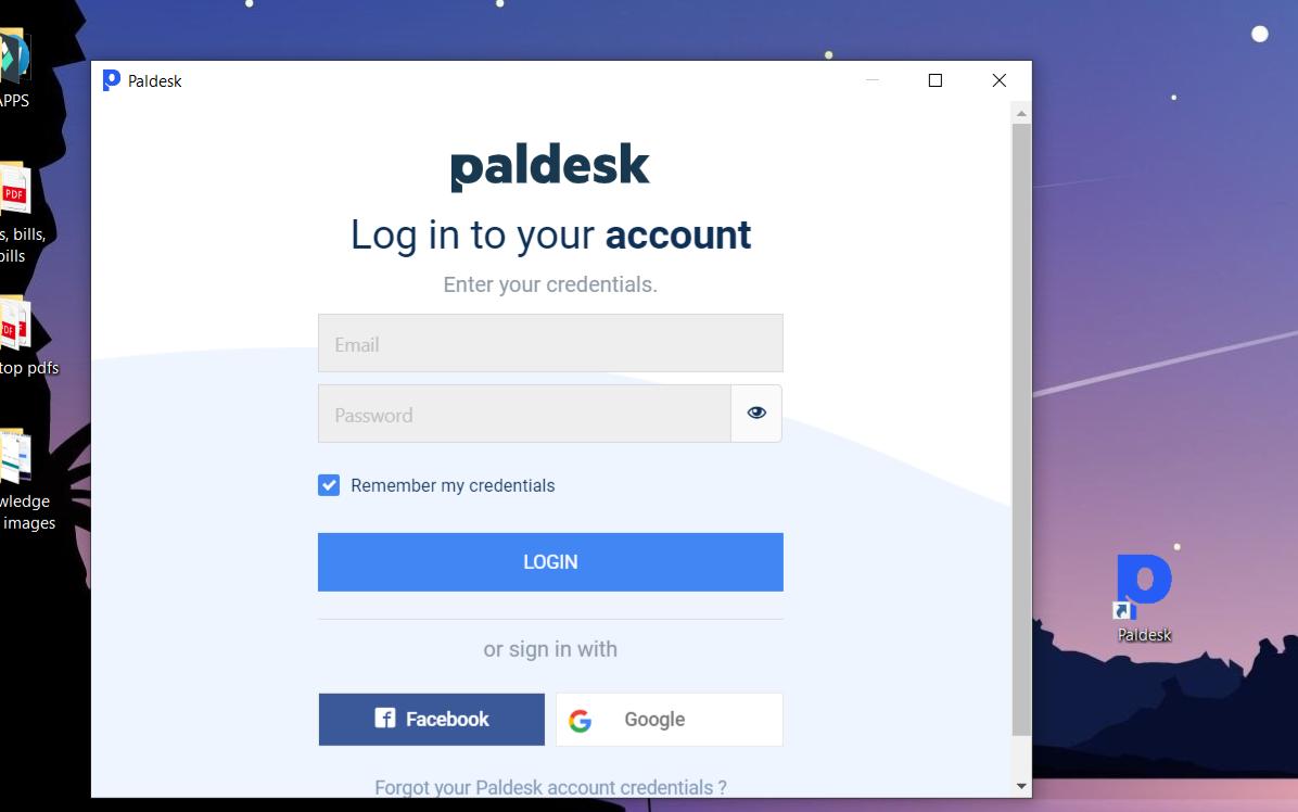 Paldesk desktop app
