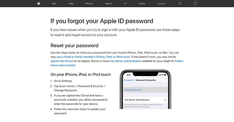 Apple Support knowldge management system - Solutions Page
