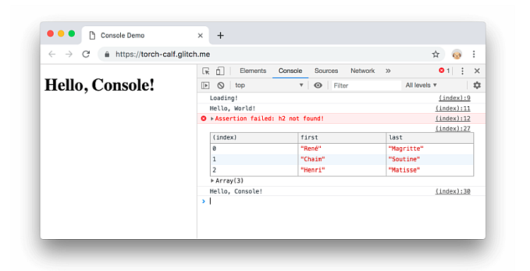 Chrome Developer Console can be used to improve SEO