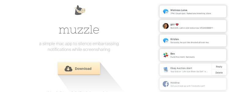 Muzzle product landing page