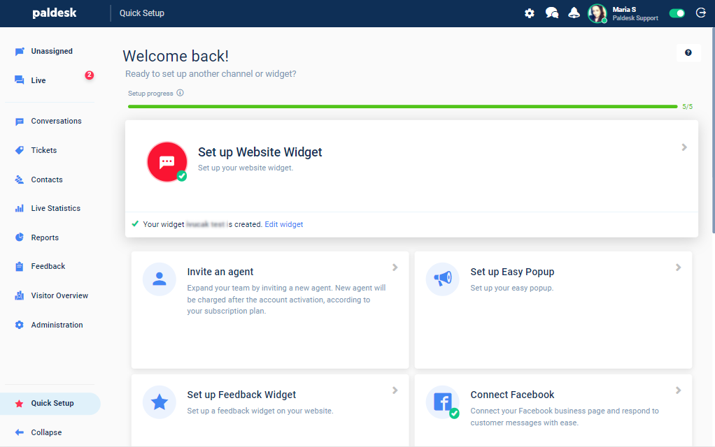 pain Points Paldesk new dashboard